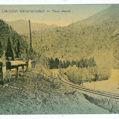 1966 - Maramures, SIGHET, railway - old postcard - used - 1915, Circulata, Printata