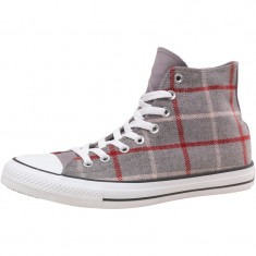 Tenisi barbati CONVERSE ALL STAR CHUCK TAYLOR PLAID HIGH 100% originali, noi, Marime: 42.5, Culoare: Gri