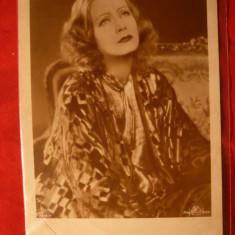 Ilustrata  veche Greta Garbo