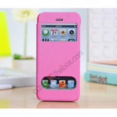 Toc flip S view Iphone 5C + folie protectie ecran + expediere gratuita Posta - sell by Phonica