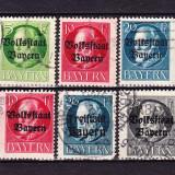 "Timbre BAYERN 1919 = KQNIG LUDWIG III CU SUPRATIPAR ""STATUL POPULAR BAYERN"""