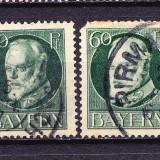 Timbre BAYERN 1914/* 102 (I) = KQNIG LUDWIG III Dant. 14X14, 1/2, Wz.4, STAMPILATE