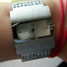 Ceas de dama, cu pietre stralucitoare, ceas mana cu baterie, LICHIDARE DE STOC!, Casual, Mecanic-Automatic, Inox