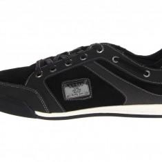 Pantofi sport Guess Leon piele 42, 5 43 44 - Adidasi barbati Guess, Culoare: Negru