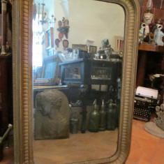 Oglinda veche , secolul XIX , colturi rotunjite , antica