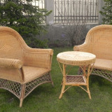 set mobilier rattan 2 fotolii + 1 masuta