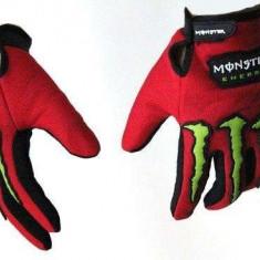 Manusi monster energy rosii - Imbracaminte moto
