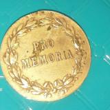 CAROL I INTEMEITORUL REGATULUI ROMAN''PRO MEMORIA''1914 BRONZ - Medalii Romania