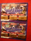 2 Bilete  Sport Expert ( Loterie) nefolosite 2002