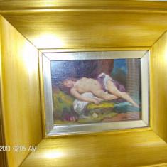 tablou nud miniatura semnat KRUPKA FERENCZ CU ACTE