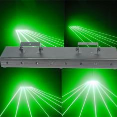 LASER DISCO URIAS CU 10 CAPETE/DIODE LASER VERZI, PUTERE 500mW, PERDEA SAU TUNEL LASER, DE MARCA-SHINP-DL100G. - Laser lumini club