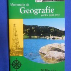 MEMORATOR DE GEOGRAFIE PENTRU CLASA a VIII-a