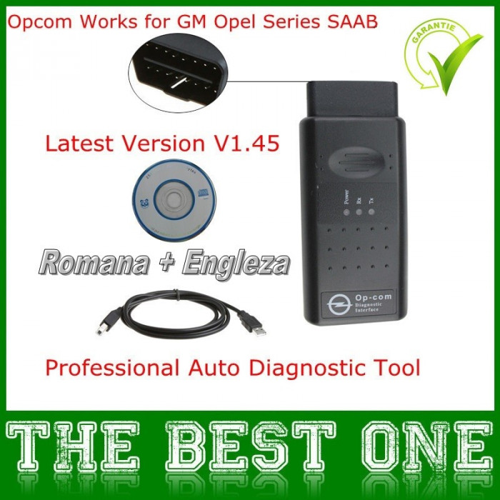 Interfata tester diagnoza Opel OPCOM  limba engleza , romana optional