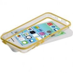Bumper galben transparent Iphone 5C 5 C +  folie protectie ecran + expediere gratuita Posta - sell by Phonica