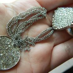 Set bijuterii dama compus din inel si lantisor, pietre stralucitoare, marca Avon - Set bijuterii handmade si fashion