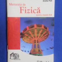 MEMORATOR DE FIZICA PENTRU CLASELE VI-VIII - Culegere Fizica