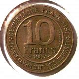 G4. FRANTA 10 FRANCS FRANCI 1987 Ni-Bronze 21 mm King Capet and France XF **, Europa