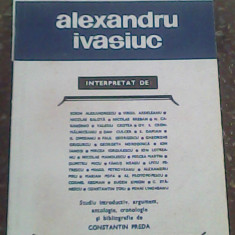 Alexandru Ivasiuc-Constantin Preda
