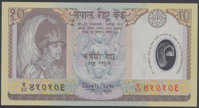 Nepal 10 rupees polimer UNC foto