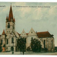 929 - SIBIU, Catholic Church - old postcard - used - 1916