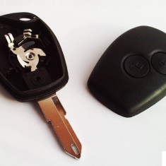 Carcasa cheie Renault/dacia Logan 2 butoane auto + lama, elemente fixare, surub