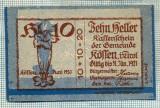 1948 BANCNOTA NOTGELD - AUSTRIA - 10 HELLER - anul 1921 -SERIA FARA -EROARE DE TIPAR-starea care se vede