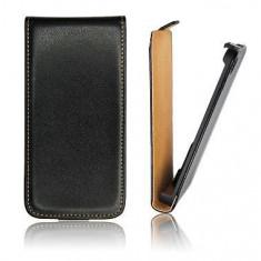 Husa Nokia Asha 302 Flip Case Inchidere Magnetica Black - Husa Telefon Nokia, Negru, Piele Ecologica, Cu clapeta, Toc