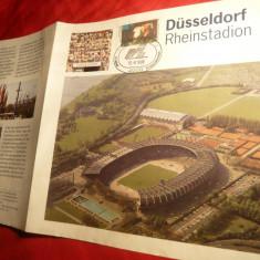 Foaie de Prezentare - Fotbal -Inaugurarea Stadionului Rheinstad in Dusseldorf 1988 RFG.