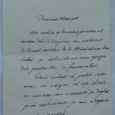 Scrisoare Petre P. Negulescu , scriitor si om politic , catre Maresalul Averescu