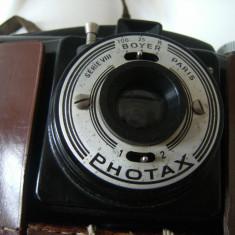 Deosebit aparat de  fotografiat Boyer Photax serie VIII, produs in Franta, obiect de colectie rar, vine cu husa de piele.