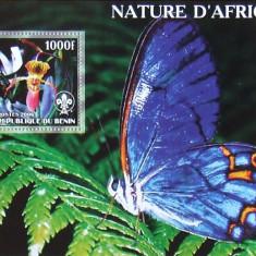 BENIN 2006 - NATURA AFRICA, 1 S/S NEOBLITERATA, POSTA PRIVATA - PP 270