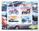 SOMALIA 1999 - MASINI SI MOTOCICLETE JAPONEZE 4 VALORI IN M/SH, NEOBLIT. - E2077