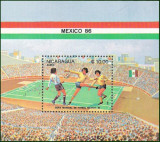NICARAGUA 1986 FOTBAL CUPA MONDIALA, Nestampilat