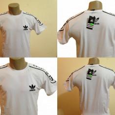 TRICOU ADIDAS. BUMBAC. T-shirt adidas. Culoare Alb + Negru sau Negru + Alb. M, L, XL, XXL. Fotografii reale. - Tricou barbati, M