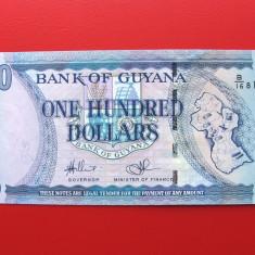 GUYANA - 100 Dollars 1999 - UNC - bancnota america