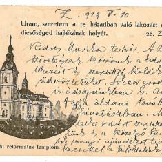 1533 - Salaj, ZALAU, Reformed Church - old postcard - used - 1929 - Carte Postala Crisana dupa 1918, Circulata, Printata