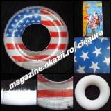 COLAC GONFLABIL PVC VINIL PRETESTAT NONTOXIC STEAG SUA USA COPII peste 8 ANI CAMERA AER VALVA SIGURANTA INOT APA INTERIOR 30 cm COLACE GONFLABILE - Colac plaja