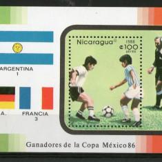 NICARAGUA 1986 FOTBAL CUPA MONDIALA - Timbre straine
