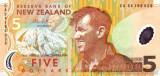 NOUA ZEELANDA █ bancnota █ 5 Dollars █ 2009 █ P-185 █ POLYMER █ UNC