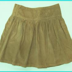 DE FIRMA → Fusta catifea, talie reglabila, ZARA → fete | 11—12 ani | 146—152 cm, Bej