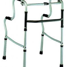 Cadru de mers pliabil din aluminiu cu 2 randuri manere - Articole ortopedice, Cadru mers