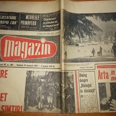 ziarul magazin 21 ianuarie 1967 ( 108 ani de la unirea principatelor si fotografie din poiana brasov pe prima pagina )