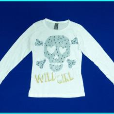 Bluza / bluzita bumbac, marca ZARA _ fetite | 4 - 5 ani | 104-110 cm, Marime: Alta, Culoare: Alb, Fete
