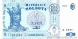 MOLDOVA █ bancnota █ 5 Lei █ 2009 █ P-9e █ UNC █ necirculata