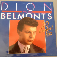 DION AND THE BELMONTS - 20 GREATEST HITS (1985 /BR REC /BELGIUM ) - DISC VINIL - Muzica Rock Altele