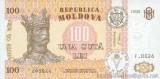 MOLDOVA █ bancnota █ 100 Lei █ 1992 █ P-15a █ UNC █ necirculata