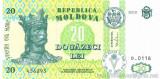 MOLDOVA █ bancnota █ 20 Lei █ 2010 █ P-13i █ UNC █ necirculata