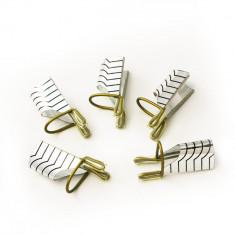 Sabloane refolosibile din teflon pt. unghii false 5 bucati, de culoare argintie - Ustensile