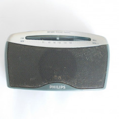 RADIO PORTABIL PHILIPS AE 1605, ARE BENZILE, FM - MW . FUNCTIONEAZA . - Aparat radio
