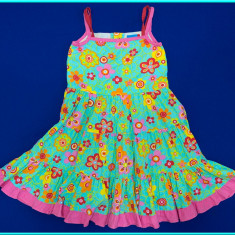 FRUMOASA _ Rochie de vara, panza bumbac, TOPOLINO _ fetite | 3 - 4 ani | 104 cm, Marime: Alta, Culoare: Multicolor